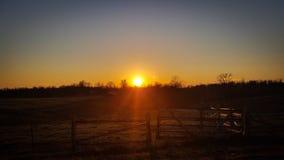 Morning rise. Country Sunrise Tn stock image