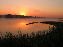 Morning on the river. The Moscow area. The river Oka royalty free stock photos