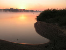 Morning on the river. The Moscow area. The river Oka royalty free stock photography