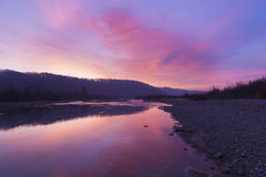 Morning river Stock Photography
