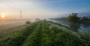 Morning river mist 2 Royalty Free Stock Photography