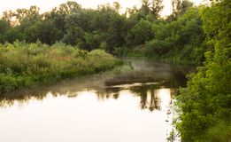 Morning on the river Stock Photography