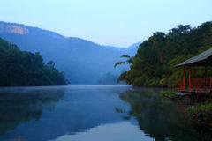 Morning  river. In national  park of Thailand Stock Image