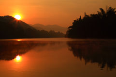 Morning  river. In national  park of Thailand Royalty Free Stock Images