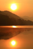 Morning  river. In national  park of Thailand Stock Photos