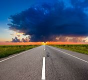 Morning  road Royalty Free Stock Images