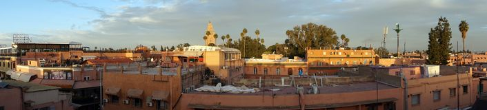 Morning roofs in Marrakech Stock Photography