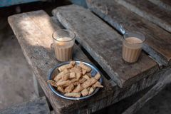 A morning routine in Bhadarsa. stock photos