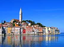 Morning in Rovinj, Croatia. Morning light with reflections, Rovinj, Istria, Croatia Stock Photos