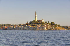 Sunset in Rovinj, Istria, Croatia Royalty Free Stock Images