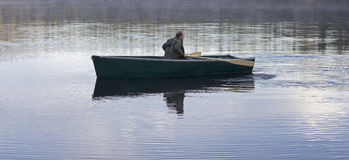 Morning rower Royalty Free Stock Images
