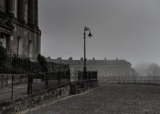 Morning at the Royal Crescent, Bath, Somerset Royalty Free Stock Photo