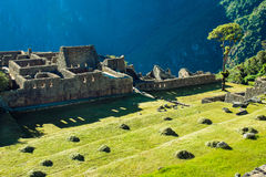 Morning Ruins. This is a shot of the steps above Machu Picchu the morning of the Winter Solstice Stock Photography