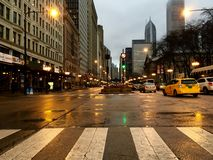 Morning rush. Of downtown Stock Images