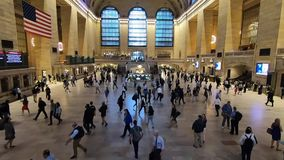 Grand Central Terminal during morning rush hour stock footage