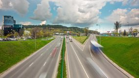 Morning rush hour, time-lapse. Morning rush hour, time - lapse stock video footage