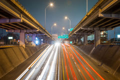 This is Morning Rush Hour Traffic in Austin, Texas. This is morning rush hour traffic in the city of Austin, Texas. there is an upper and lower deck going both Royalty Free Stock Images