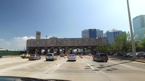 Morning Rush Hour Traffic Heads Into Holland Tunnel. NEW JERSEY - Circa August, 2016 - Morning rush hour traffic heads into the Holland Tunnel on the way into stock video footage