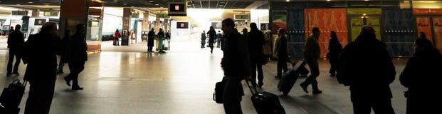 Morning rush at train station Royalty Free Stock Image