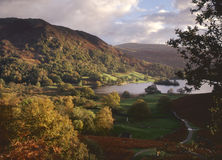 Morning light, Rydal water, Cumbria royalty free stock photo