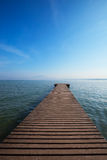 Morning's jetty Stock Images