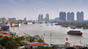 Morning on The Saigon River, Vietnam Royalty Free Stock Photos