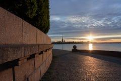 Morning in Saint-Petersburg. Sunrise in Saint-Petersburg, Russia Stock Image