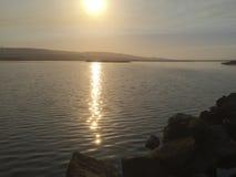 Morning at Saint Ynez river watershed Royalty Free Stock Image