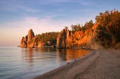 Morning in Sandy Bay Stock Image