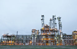 Morning scene of chemical plant Stock Photo