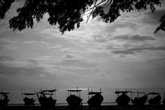 Morning scene at east coast Malaysia Royalty Free Stock Images