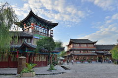 The morning scene of Lijiang Dayan old town Royalty Free Stock Photos
