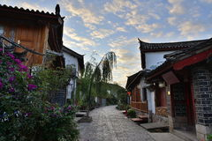 The morning scene of Lijiang Dayan old town Royalty Free Stock Photo