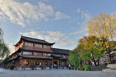 The morning scene of Lijiang Dayan old town Stock Images