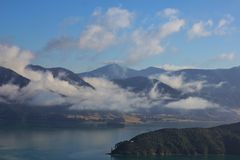 Morning scene in the Marlborough Sounds Stock Photography