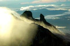 Morning scene at mountain. Morning scene at Kinabalu mountain, Borneo, Sabah, Malaysia with dramatic fogging Stock Images