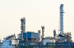 Morning scene of oil refinery factory Stock Image