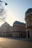 Morning scene in Paris Royalty Free Stock Photo