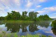 Morning scene on river Stock Photography