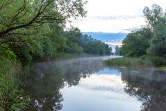 Morning scene on river Stock Images