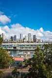 A morning scene in Sydney, Australia. Woolloomooloo Bay, Sydney, Australia -September 03, 2018: Sydney City Views and at Woolloomoollo Bay with Royal Australian Royalty Free Stock Image