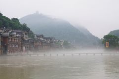 Morning scenery of the FengHuang ancient city Stock Images