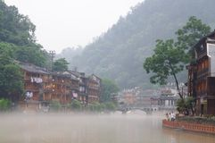 Morning scenery of the FengHuang ancient city Royalty Free Stock Images