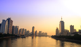 Morning scenery of pearl river  in GuangZhou China Stock Photos