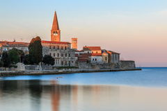 Morning by the sea in Porec, Croatia royalty free stock photography