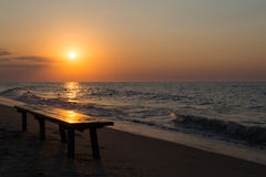 Morning sea sunrise Stock Photos