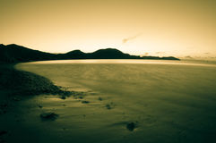 Morning sea. Toned. Royalty Free Stock Photography