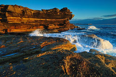 Morning seascape with cliffs Royalty Free Stock Image
