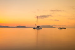 Morning seascape with mountains Royalty Free Stock Image
