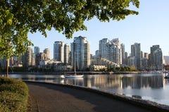 Morning Seawall View Vancouver Stock Photos